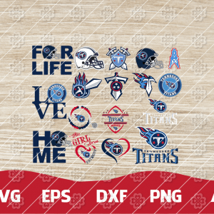 30 1 Vectorency Tennessee Titans Set of Cut File, EPS, DXF Files of a Sports Team, for Cutting, Design, T-Shirts, Mugs, Projects, Crafts