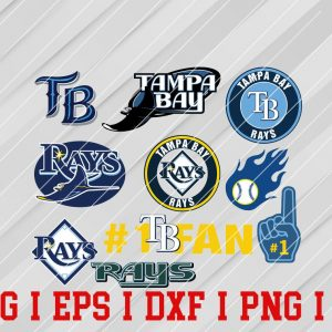 30 Vectorency Tampa Bay Rays SVG, EPS, DXF Files of a Sports Team, for Cutting, Design, T-Shirts, Mugs, Projects, Crafts