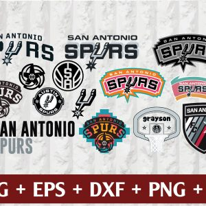 31 1 Vectorency San Antonio Spurs SVG - set of Cut Files, EPS, DXF, PNG Files of a Sports Team, for Cutting, Design, T-shirts, Mugs, Projects, Crafts