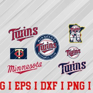 31 Vectorency Minnesota Twins SVG, EPS, DXF Files of a Sports Team, for Cutting, Design, T-Shirts, Mugs, Projects, Crafts