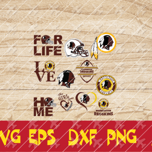 32.1 Vectorency WASHINGTON REDSKINS SVG Bundle - set of cut file, EPS, DXF, SVG, PNG Files of a Sports Team, for Cutting, Design, T-Shirts, Mugs, Projects, Crafts
