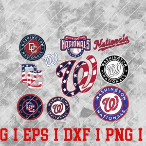 32 Vectorency Washington Nationals SVG, EPS, DXF, PNG Files of a Sports Team, for Cutting, Design, T-Shirts, Mugs, Projects, Crafts