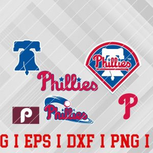 34 Vectorency Philadelphia Phillies SVG, EPS, DXF Files of a Sports Team, for Cutting, Design, T-Shirts, Mugs, Projects, Crafts