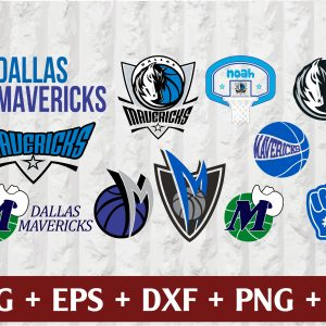 4 2 Vectorency Dallas Mavericks SVG - set of Cut Files, EPS, DXF, PNG Files of a Sports Team, for Cutting, Design, T-shirts, Mugs, Projects, Crafts