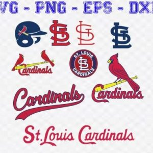 4 Vectorency St Louis Cardinals Logo SVG Bundle - Set of SVG, EPS, DXF, PNG Files of a Sports Team, For Cutting, Design, T-Shirts, Mugs, Projects, Crafts...