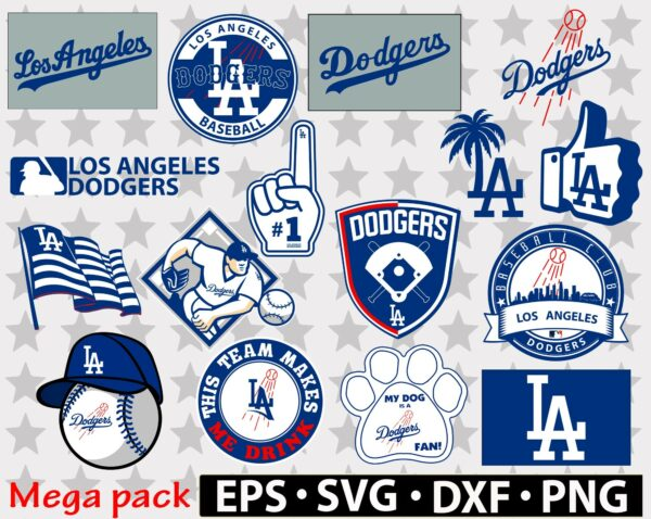 414 new banner etsy Los Angeles Dodgers Vectorency Los Angeles Dodgers SVG Files For Silhouette, Files For Cricut, DXF, EPS, PNG Instant Download.