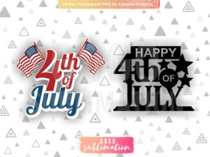 4th of July Cake Toppers PNG SVG