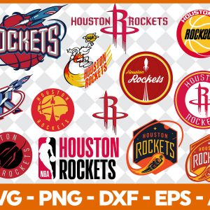 5 1 Vectorency Houston Rockets SVG - set of Cut Files, EPS, DXF, PNG Files of a Sports Team, for Cutting, Design, T-shirts, Mugs, Projects, Crafts