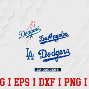 5 Vectorency LA Dodgers SVG, EPS Files of a Sports Team, for Cutting, Design, T-Shirts, Mugs, Projects, Crafts