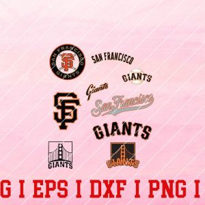 6 Vectorency San Francisco Giants SVG, EPS, DXF Files of a Sports Team, For Cutting, Design, T-Shirts, Mugs, Projects, Crafts