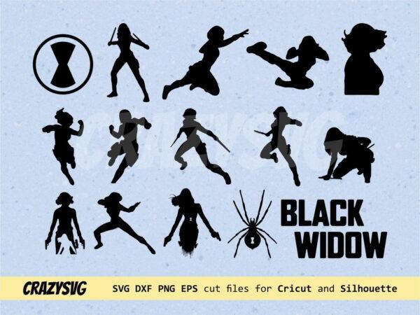Black Widow SVG Bundle