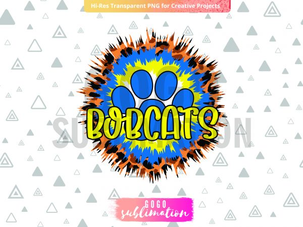 Bobcats png - Sublimation design
