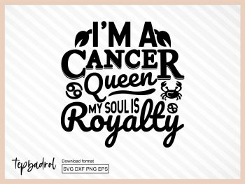 Cancer Queen Zodiac SVG