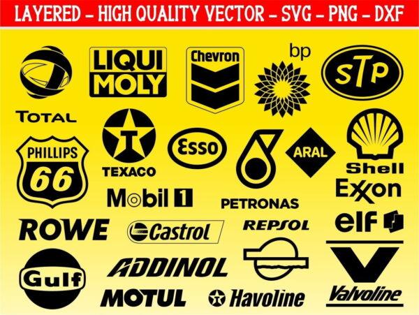 Car motor oil logo SVG Bundle