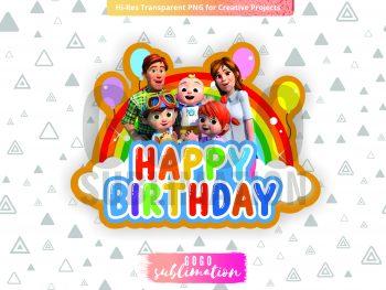 Cocomelon Cake Topper For Birthday Party Happy Birthday Coco Melon Printable