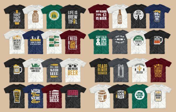 Design Beer Vectorency 71 Designs Beer Bundle EPS, SVG, PNG