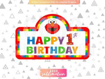 Elmo 1st Birthday Cake Topper Printable