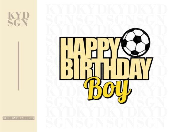 Football Cake Topper Happy Birthday Boy