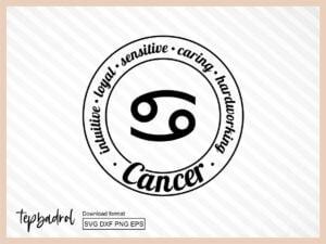 Funny Cancer Zodiac SVG