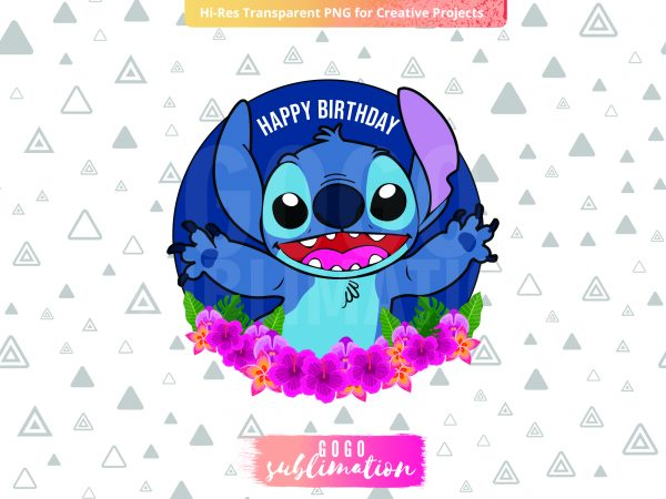 Lilo And Stitch Cake Topper PNG