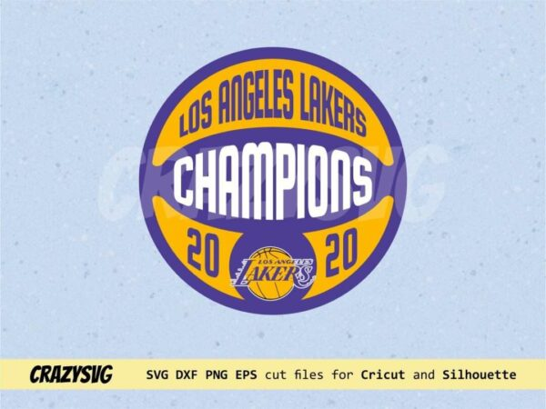 Los Angeles Lakers Champions 2020 Vector Lakers SVG