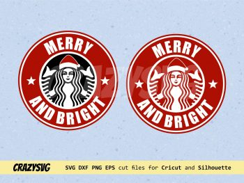 Merry and Bright Starbucks Logo