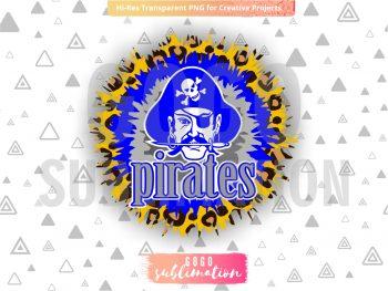 Pirates tie dye sublimation design