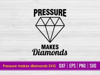 Pressure makes diamonds SVG
