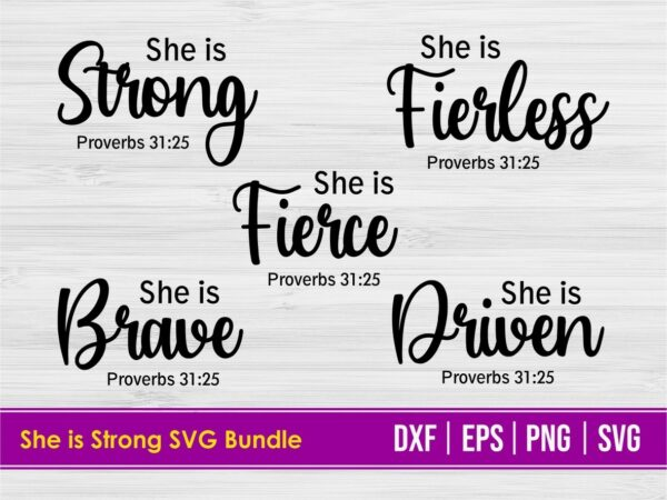 She is Strong SVG Bundle