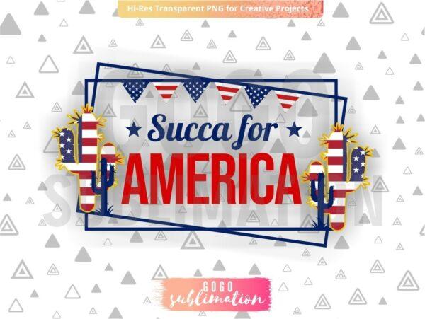 Succa for America sublimation design