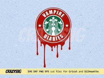 Vampire Diaries Starbucks Logo SVG
