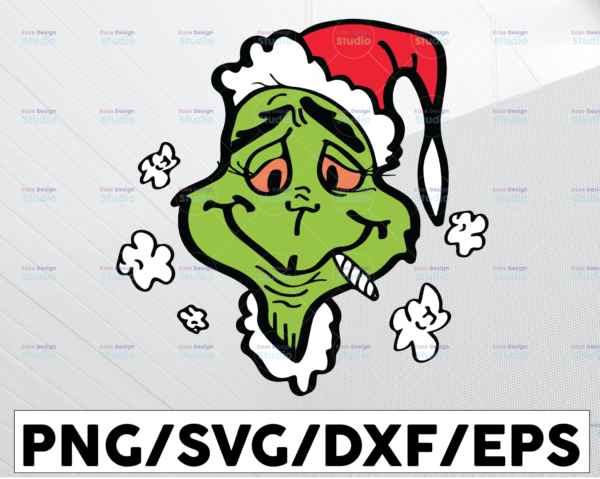 WTMETSY13012021 01 107 Vectorency High Grinch Christmas SVG PNG DXF Digital Download