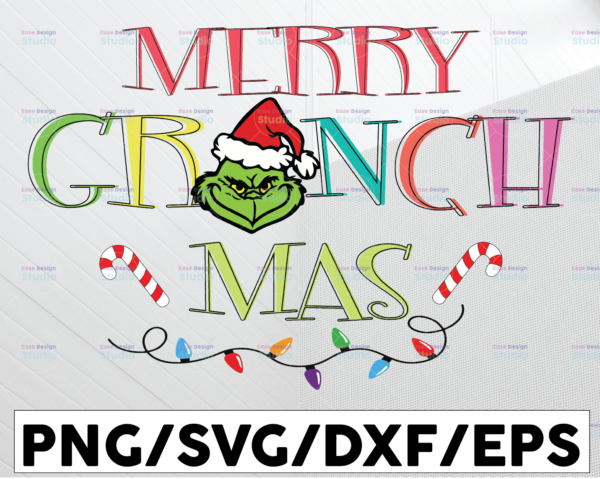 WTMETSY13012021 01 110 Vectorency Merry Grinchmas, Christmas SVG PNG DXF Digital Download