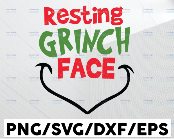 WTMETSY13012021 01 67 Vectorency Resting Grinch Face SVG, Grinch SVG, Grinch Image, Cutting Image, Cut File, Christmas Cricut, Christmas Cut File