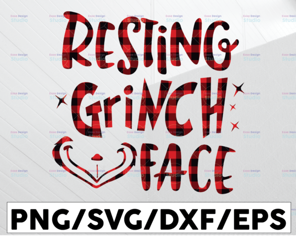 WTMETSY13012021 01 87 Vectorency Resting Grinch Face SVG, Christmas SVG, Holiday SVG, Cutting Files for Silhouette & Cricut SVG