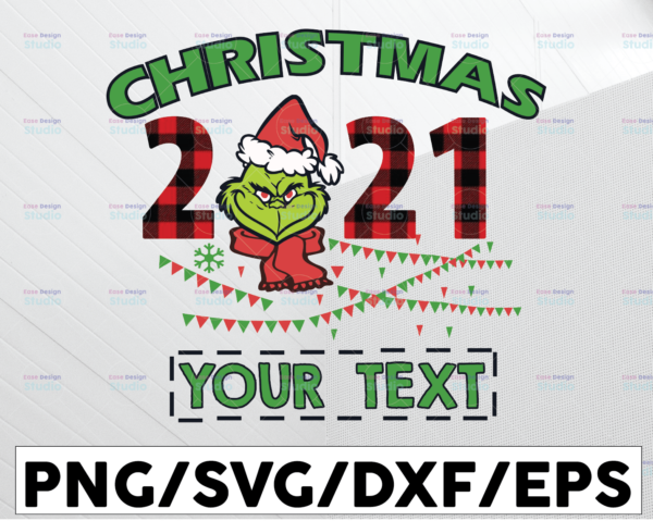 WTMETSY13012021 01 98 Vectorency Personalized Name Christmas 2021 Grinch PNG, The Grinch, Christmas Grinch, Christmas Gift, Sublimated Printing, INSTANT DOWNLOAD, PNG Printable