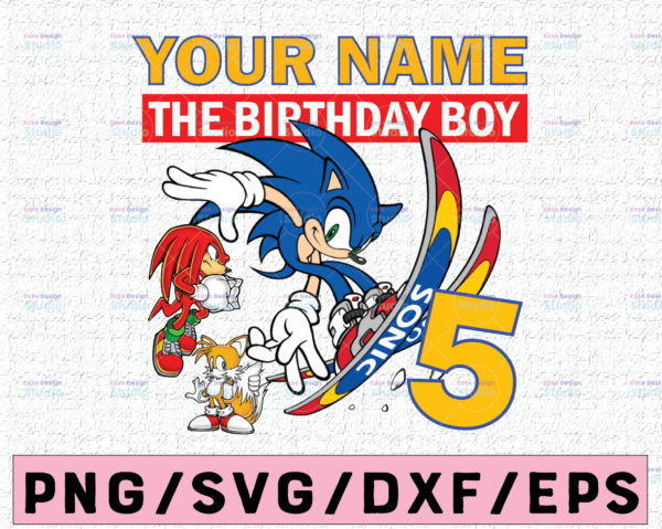WTMETSY16122020 02 43 Vectorency Sonic and Friends Birthday Digital Design, Personalized Birthday Gift PNG, Sonic The Hedgehog Game Sublimation PNG, The Birthday Boy Gift
