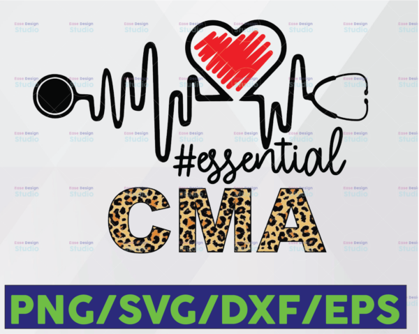 WTMETSY16122020 06 30 Vectorency CMA Essential Leopard SVG PNG, CMA PNG, Essential Leopard PNG, Heartbeat SVG Cricut PNG Printable Digital Print Design