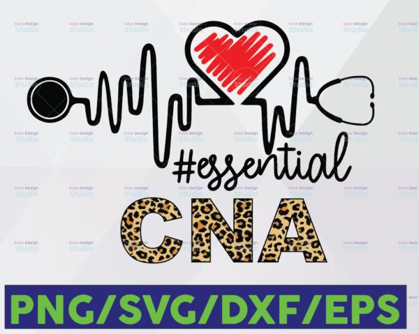 WTMETSY16122020 06 31 Vectorency CNA Essential Leopard SVG PNG, CNA PNG, Essential Leopard PNG, Heartbeat SVG Cricut PNG Printable Digital Print Design