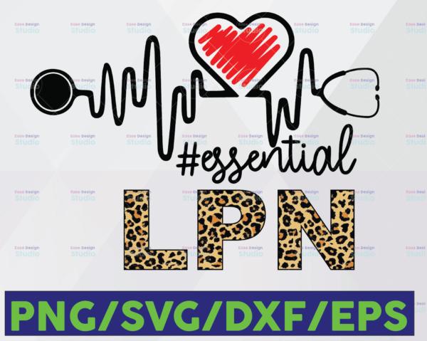 WTMETSY16122020 06 33 Vectorency LPN Essential Leopard SVG PNG, LPN PNG, Essential Leopard PNG, Heartbeat SVG Cricut PNG Printable Digital Print Design
