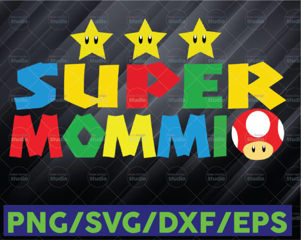 WTMETSY16122020 06 73 Vectorency Super Mommio SVG, Funny Mommy Mother Nerdy Video Gaming Lover Design, Super Mommio, Video Game PNG, Video Game Clipart, Mother Day PNG