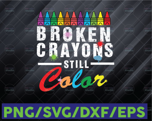 WTMETSY16122020 06 85 Vectorency Broken Crayons Still Color PNG Mental Health Awareness PNG File Download