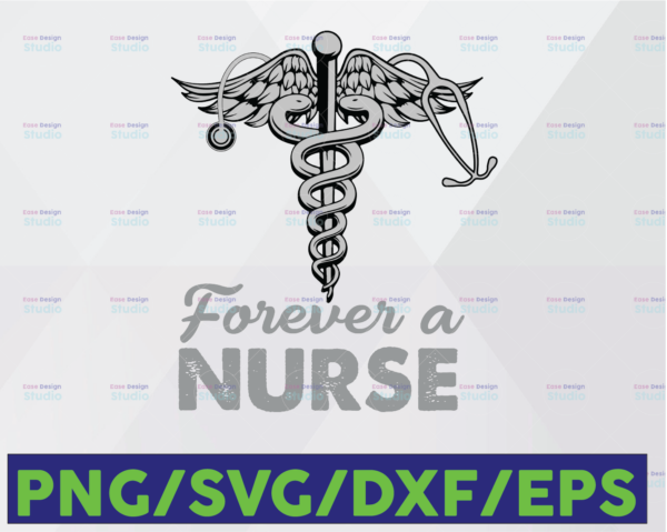WTMETSY16122020 06 88 Vectorency Funny Nurse Hearting SVG, Forever Nurse, Medical Symbol SVG, Nurse SVG, Caduceus SVG, Medical Logo SVG, PNG
