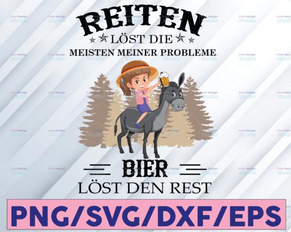 WTMETSY16122020 08 16 Vectorency Girl Horse PNG, Horse PNG, Reiten Lost Die Meisten Meiner Probleme Bier Lost Den Rest PNG, Digital Files