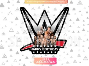 WWE Cake Topper Printable PNG jpg