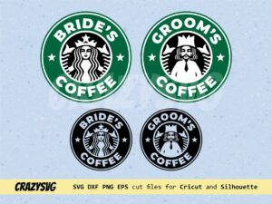 Wedding Starbucks Bride & Groom