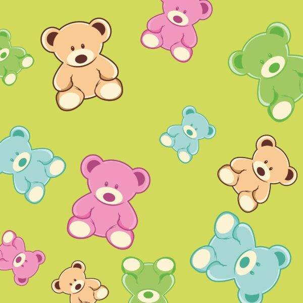 bears in colors 65 2500x2500 2 Vectorency cute teddy bear pattern