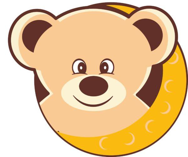 cute bear on a moon 70 2500x2089 1 Vectorency Cute Teddy Bear Inside A Moon
