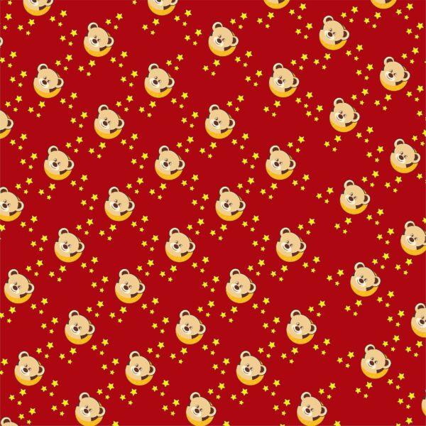 cute bear on a moon pattern 95 2500x2500 1 Vectorency Cute Teddy Bear Pattern