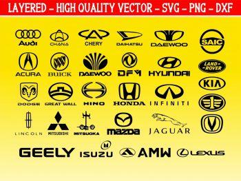 japan korea china car logo SVG